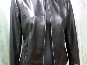 Кожаная куртка люкс из итальянской кожи почти даром. Ярмарка Мастеров - ручная работа, handmade.