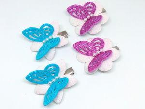 Заколка  «Бабочка на цветке». Ярмарка Мастеров - ручная работа, handmade.