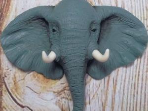 Видео мастер-класс: лепим голову слона для кулона из полимерной глины. Ярмарка Мастеров - ручная работа, handmade.