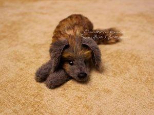 Мастер-класс: изготавливаем игрушку «Лежащий пёс». Ярмарка Мастеров - ручная работа, handmade.