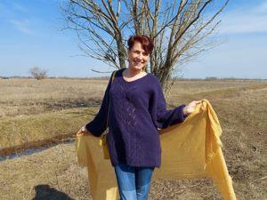 Пуловер  «Теплая ночь». Ярмарка Мастеров - ручная работа, handmade.