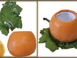 Лепим сочный вазон  «Апельсин»  своими руками. Ярмарка Мастеров - ручная работа, handmade.