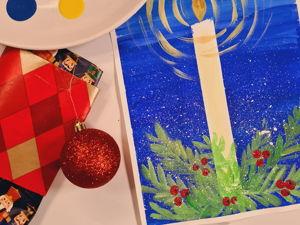 Рисование для детей: рисуем зимнюю отрытку. Ярмарка Мастеров - ручная работа, handmade.