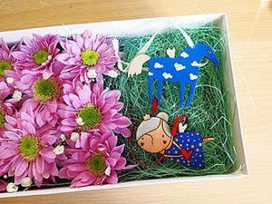 Цветочная коробка. Делаем оригинальную упаковку для подарка. Ярмарка Мастеров - ручная работа, handmade.