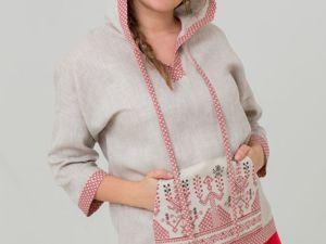 Блуза с капюшоном Ася. Ярмарка Мастеров - ручная работа, handmade.
