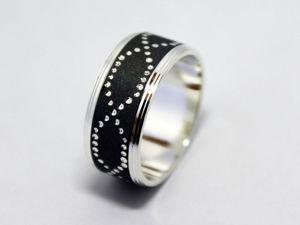 Фаланговое широкое кольцо. Ярмарка Мастеров - ручная работа, handmade.