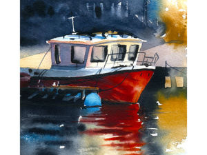 Рисуем корабль акварелью. Ярмарка Мастеров - ручная работа, handmade.