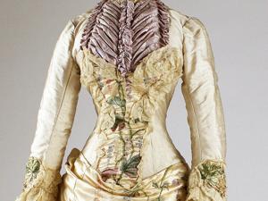 Шёлковое визитное платье с вышивкой. Mme. Martin Decalf, Париж, 1882-1883 гг. Ярмарка Мастеров - ручная работа, handmade.