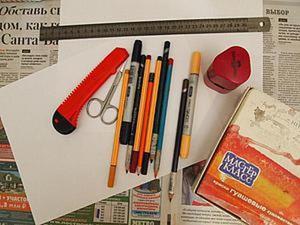 Мастер-класс: обложка для блокнота с помощью трафарета. Ярмарка Мастеров - ручная работа, handmade.