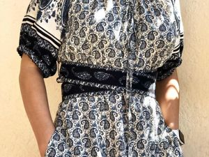 Платье из хлопка летнее. Ярмарка Мастеров - ручная работа, handmade.