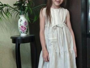 Детские льняные платья. Ярмарка Мастеров - ручная работа, handmade.