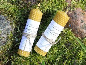 Свечи из вощины с травами — новинки. Ярмарка Мастеров - ручная работа, handmade.