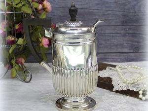 Дополнительные фотографии антикварного серебряного кувшина для шоколада/кофе. Ярмарка Мастеров - ручная работа, handmade.