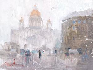 Konstantin Sukhopluev: Artist Painting Rain. Livemaster - handmade