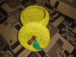 Шкатулка «Яблоко» из бумажных трубочек: видеоурок. Ярмарка Мастеров - ручная работа, handmade.