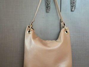 Шьем небольшую кожаную сумочку. Ярмарка Мастеров - ручная работа, handmade.