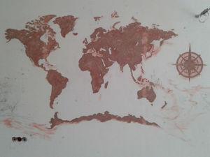 Изготавливаем барельеф «Карта». Ярмарка Мастеров - ручная работа, handmade.