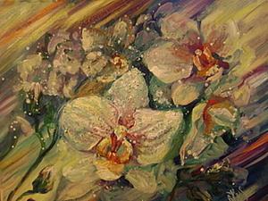 Видео мастер-класс: пишем маслом на холсте орхидеи. Ярмарка Мастеров - ручная работа, handmade.
