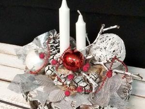 Составляем  Новогоднюю композицию со свечами. Ярмарка Мастеров - ручная работа, handmade.