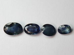 Сапфиры синие 4 лота. Ярмарка Мастеров - ручная работа, handmade.