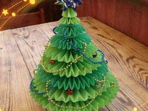 Поделка Для Новогоднего Конкурса. Создаем Ёлку Из Бумаги. Ярмарка Мастеров - ручная работа, handmade.