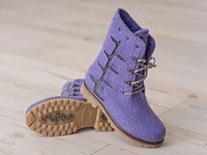 Установка валяной обуви на подошву без прошивки. Ярмарка Мастеров - ручная работа, handmade.