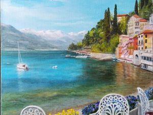 Итальянский пейзаж маслом. Ярмарка Мастеров - ручная работа, handmade.
