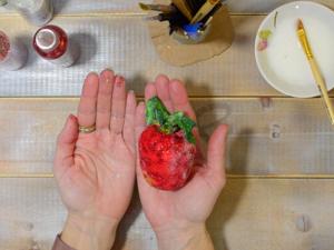 Новогодняя ватная ёлочная игрушка «Яблоко». Ярмарка Мастеров - ручная работа, handmade.