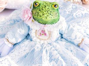 Лягушка Софи, жаба, купить подарок любимой, подарок девушке, подарок женщине. Ярмарка Мастеров - ручная работа, handmade.
