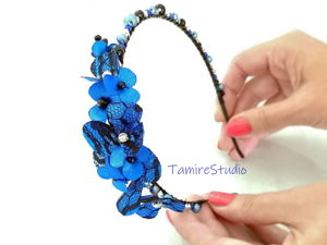 How to Create Handmade Headband from Beads and Flowers. Livemaster - handmade
