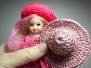 Как связать крючком шляпку для куклы. Ярмарка Мастеров - ручная работа, handmade.