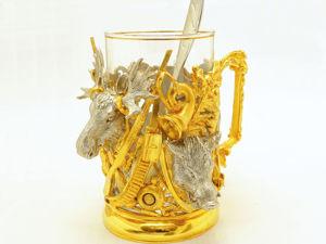 Дорогой подстаканник  «Охотничьи трофеи» . Златоуст z2219. Ярмарка Мастеров - ручная работа, handmade.