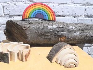 Мастерим деревянную радугу с корой в вальдорфском стиле. Авторский эксперимент. Ярмарка Мастеров - ручная работа, handmade.