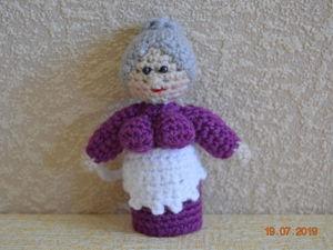 Видео мастер-класс: Вязаная Бабка — Пальчиковый кукольный театр крючком. Ярмарка Мастеров - ручная работа, handmade.