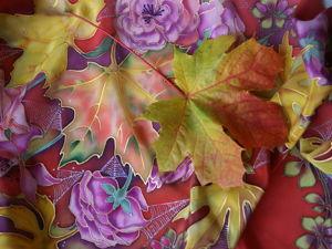 Осенний батик. Ярмарка Мастеров - ручная работа, handmade.