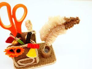 Мастерим органайзер из джута своими руками. Ярмарка Мастеров - ручная работа, handmade.