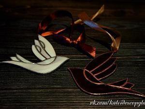 Декоративная птичка из стекла в технике Тиффани. Видео мастер-класс. Ярмарка Мастеров - ручная работа, handmade.