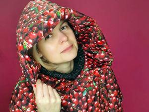 Куртка с ягодным принтом. Ярмарка Мастеров - ручная работа, handmade.