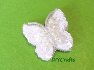 Создаем брошь «Бабочка» из пайеток и бисера. Ярмарка Мастеров - ручная работа, handmade.