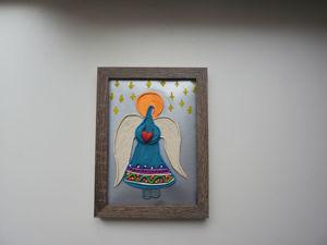 Как сделать открытку с Рождественским Ангелом. Ярмарка Мастеров - ручная работа, handmade.