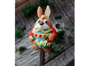 Делаем вкусную ложечку с ярким пасхальным кроликом. Ярмарка Мастеров - ручная работа, handmade.