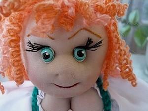 Шьем куклу на чайник. Часть 2: делаем глазки. Ярмарка Мастеров - ручная работа, handmade.