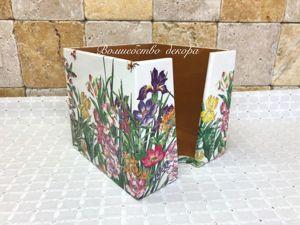 Салфетница  «Полевые цветы»  для Елены. Ярмарка Мастеров - ручная работа, handmade.
