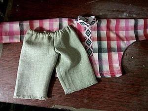 Шьем одежду для Домовенка. Часть 2: выкраивание из ткани и пошив. Ярмарка Мастеров - ручная работа, handmade.