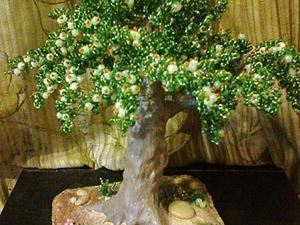 Мастерим декоративную яблоню из бисера. Ярмарка Мастеров - ручная работа, handmade.