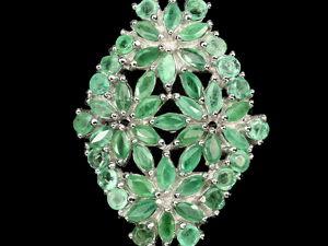 Удивительное кольцо с натуральными изумрудами. Ярмарка Мастеров - ручная работа, handmade.