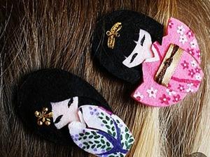 Японские куклы-кокеши из фетра. Ярмарка Мастеров - ручная работа, handmade.