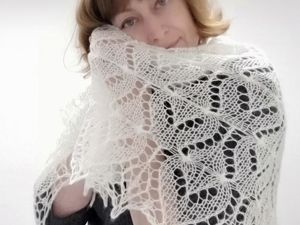 Как вязать треугольные шали спицами. Урок 1. Ярмарка Мастеров - ручная работа, handmade.
