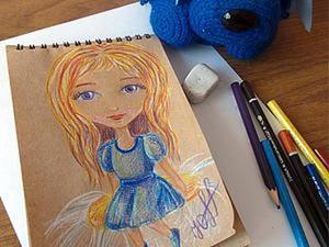 Рисуем девочку с фиалковыми глазками. Ярмарка Мастеров - ручная работа, handmade.