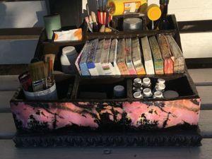 Мастерим органайзер из коробок с имитацией камня. Ярмарка Мастеров - ручная работа, handmade.